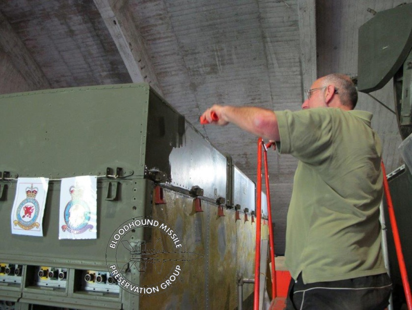 Painting the rear of the LCP Cabin wm.jpg